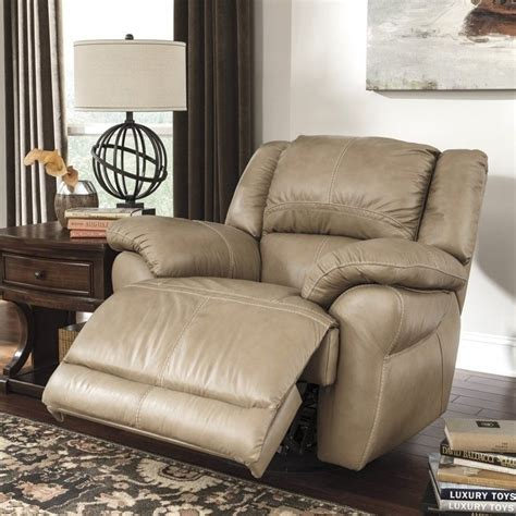 ashley furniture swivel recliner ashley furniture lenoris leather swivel rocker recliner in