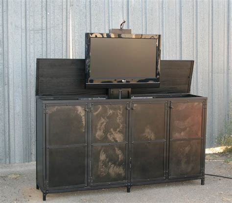 Motorized Tv Lift Cabinet by Combine 9 Industrial Furniture Industrial Motorized Tv
