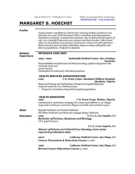 Exle Profile Resume by Profile Resume Exles Best Resume Templates And Exles Resume Profile Exles