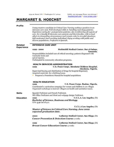 Resume teacher profile examples