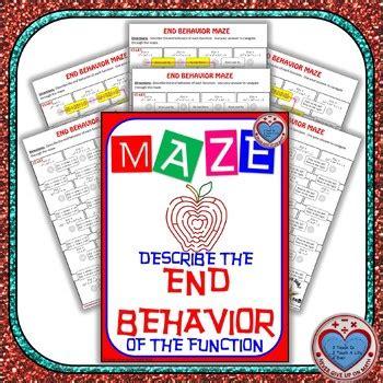 End Behavior Worksheet