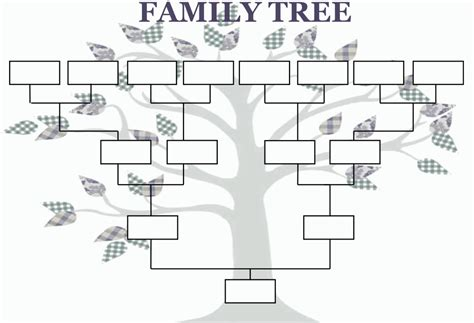 Template Family Tree Family Tree Template