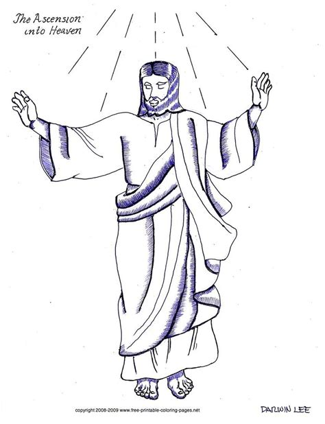 coloring pages jesus goes to heaven ascension of jesus coloring page az coloring pages