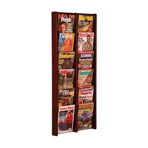 Literature Rack Wall Mount by 12 Pocket Wall Mount Oak Literature Rack