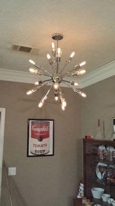 decor living sputnik 18 light polished nickel chandelier country living country living magazine and living