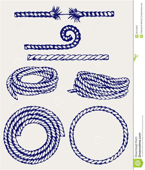 doodle knots nautical rope knots stock vector image of