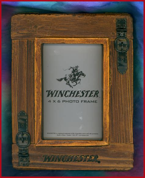 Cabin Picture Frames by Western Decor Lodge Cabin Winchester 4x6 Picture Frame Ebay