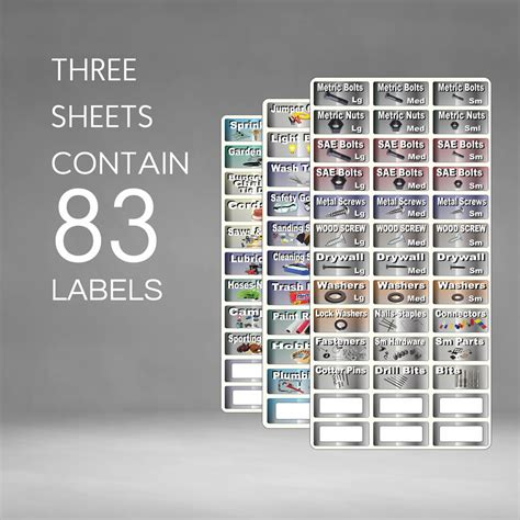 Garage Storage Labels Edition Tool Label Combo Deal Organize Tools
