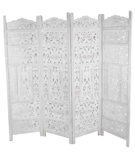 White Room Divider Carved Wooden Leaves Room Divider Screen White Room Dividers Uk