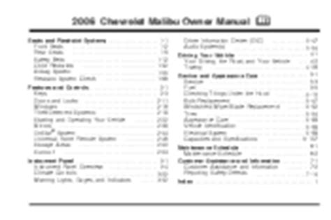 2006 Chevrolet Malibu Manuals