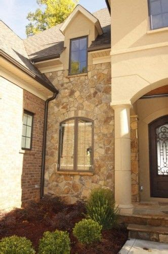 rock brick combination exterior home home improvement traditional other and the rock on pinterest