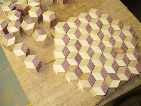 endgrain tumbling block butcher block board