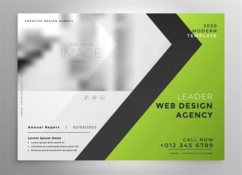 open office presentation templates card layout green brochure template presentation design