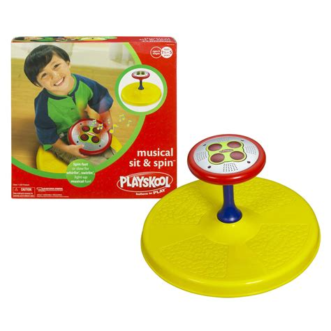 playskool 174 musical sit n spin yellow toys