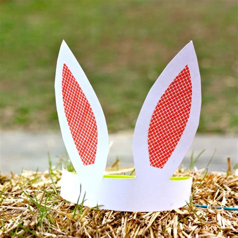 How To Make Paper Ears - paper bunny ears family crafts