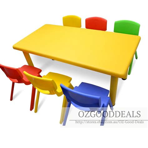 large toddler children activity table and 6 chair