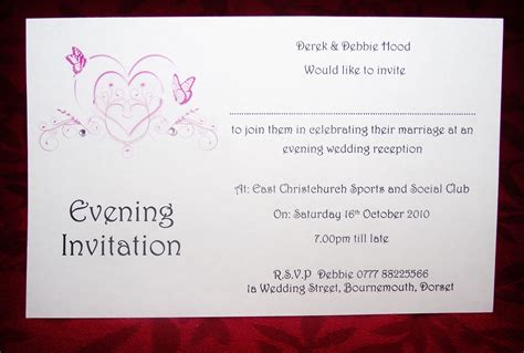 wedding invitations evening wedding invitations day or evening personalised butterfly diamonte postcard style