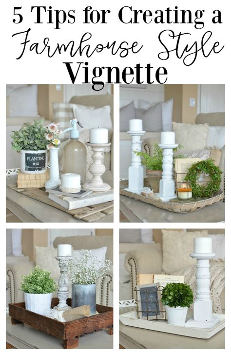 5 tips for small space styling the mine blog 5 quick tips for a farmhouse style vignette