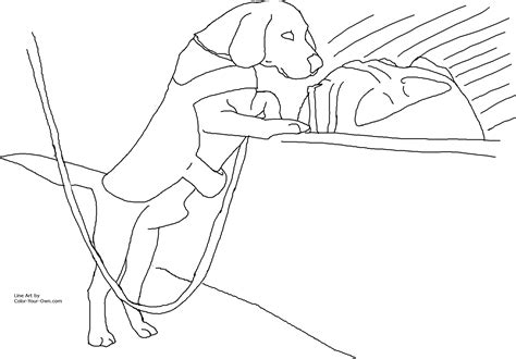 coloring pages of service dogs drug detection service dog coloring page