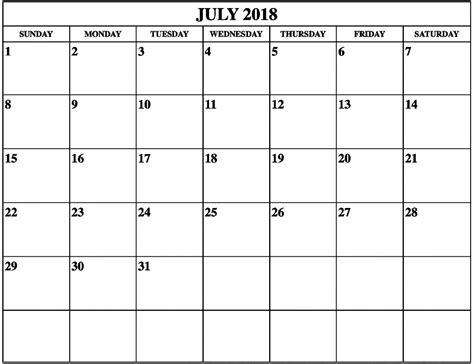 printable calendar landscape july 2018 calendar portrait landscape printable