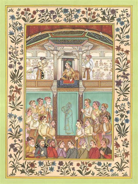 Painting Handmade - mughal empire miniature painting handmade emperor