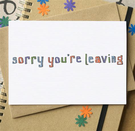 sorry you re leaving card by becka griffin illustration