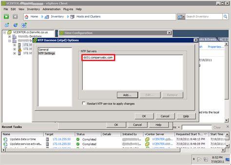 fixing time errors  vmware vsphere  esx hosts