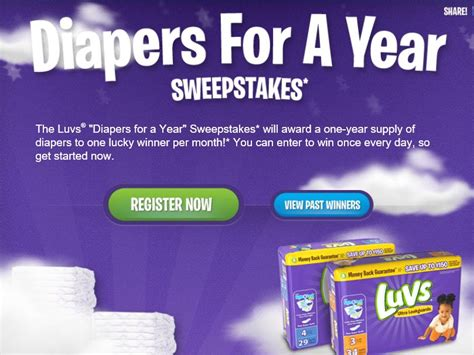 Sweepstakes Fanatics - luvs diapers for a year sweepstakes sweepstakes fanatics