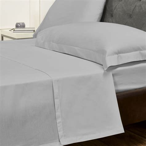 the best sheets silver cotton rich percale easy care flat sheet julian