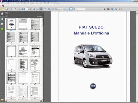fiat scudo italian service manual manuale d officina