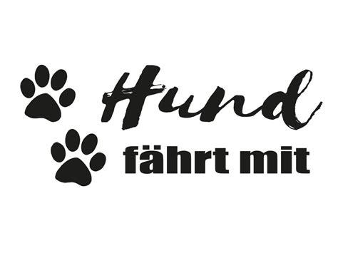 Autoaufkleber Hund F Hrt Mit by Aufkleber Hund F 228 Hrt Mit Pf 246 Tchen Aufkleber Tierisch