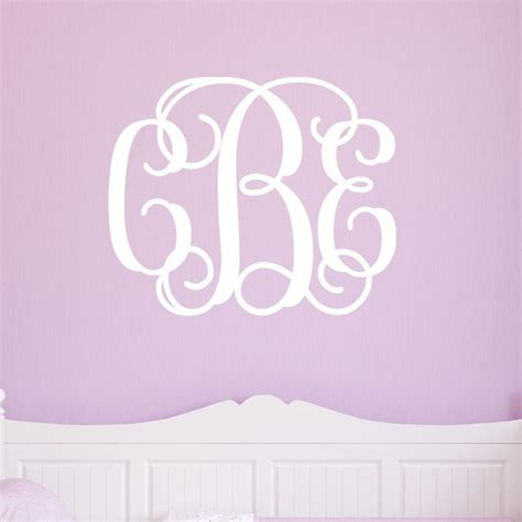 monogrammed wall stickers monogram wall decals 2017 grasscloth wallpaper