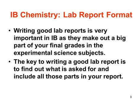 Assessment Report Writing Ppt by Chemistry Lab Report Chemistry Lab Report Format Chemistry Written Laboratory Report Format 1