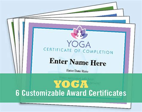 yoga certificates pack certificate of completion