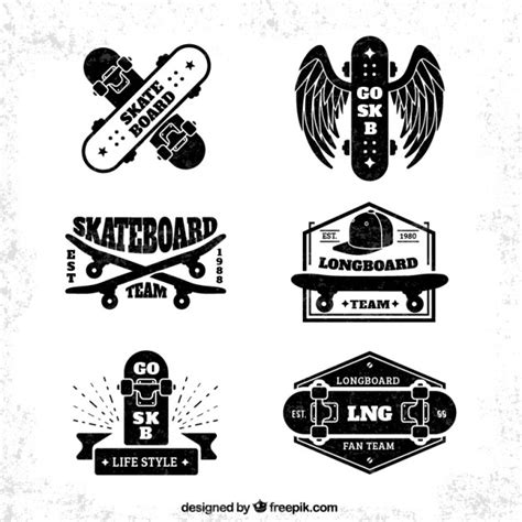 skateboard bage collection free vectors ui download
