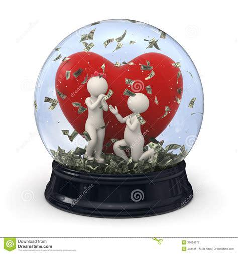 snow globe valentines 3d in snow globe marriage money royalty