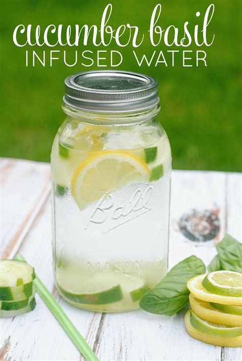 Lemon Basil Water Detox by Cucumber Lemon Lime Basil Infused Water Recipe