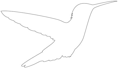 Hummingbird Outline by Hummingbird Silhouette Free Vector Silhouettes
