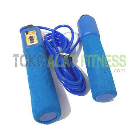 New Alat Fitness Jym Lompat Tali Tali Skipping Speed Rope Fitness skip soft with counter biru tua toko alat fitness
