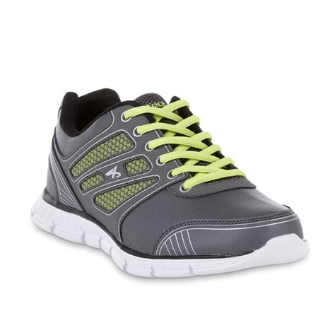 kmart athletic shoes athletech s racer athletic shoe gray yellow
