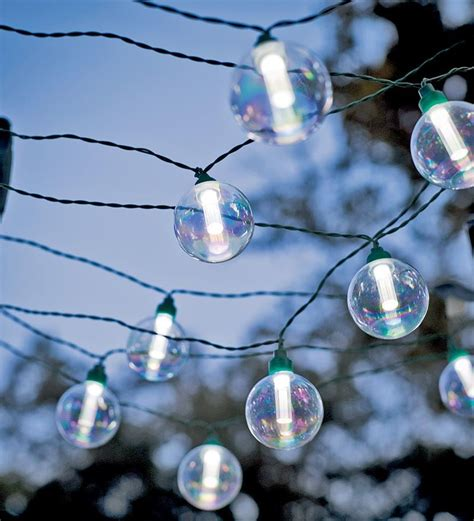 Solar Globe Lights Outdoor 25 Bulb Solar Powered Globe String Lights Gifts 25 50