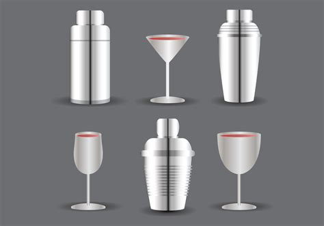 shaker vector cocktail shaker and glass vector download free vector