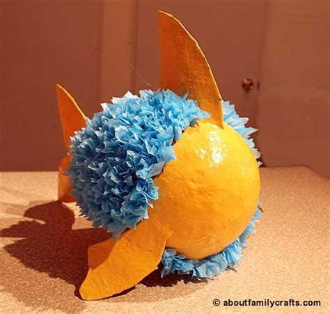 How To Make A Pinata With Paper Mache - make a paper mache pinata fish about family crafts vbs