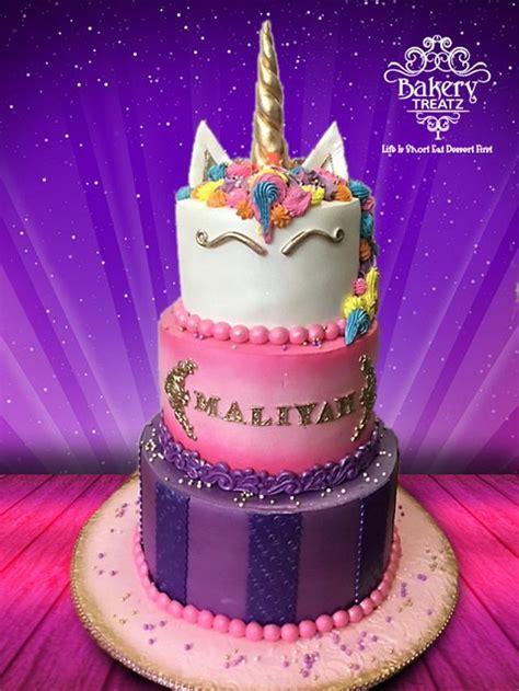 layer unicorn cake cake  mstreatz cakesdecor