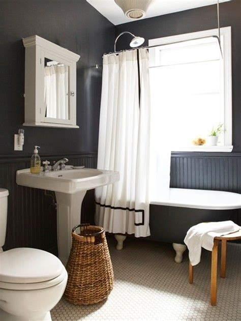 black and white bathroom accent color salle de bain noir et blanc id 233 es design bricobistro