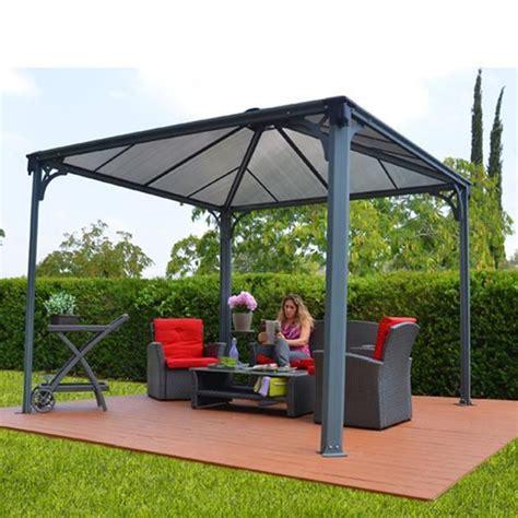 Alu Pavillon 4x4m by Tonnelle Couv Terrasse 3x3m Achat Vente Tonnelle