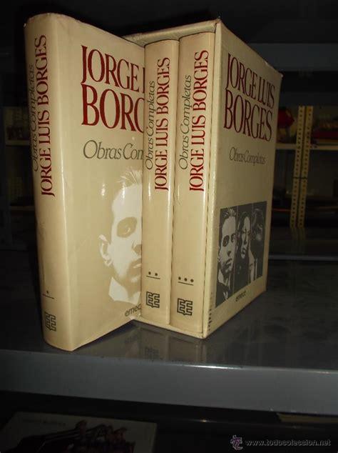 jorge luis borges obras completas 3 tomos en es comprar en todocoleccion 47418894