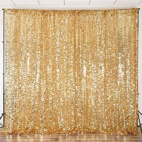 20FT Gold Big Payette Sequin Curtain Panel Backdrop