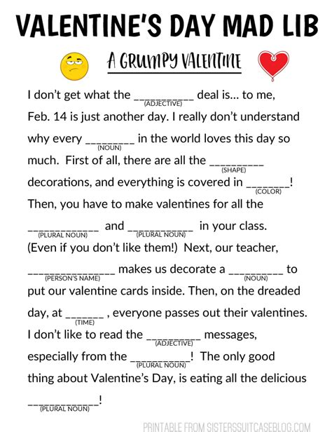 valentines mad libs s day mad libs for