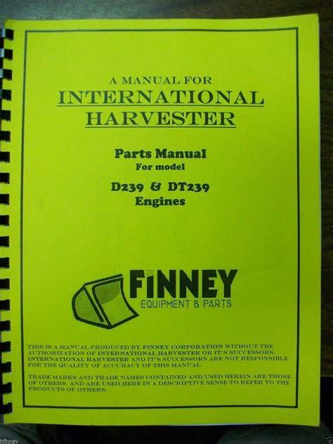 dresser ih  dt diesel engine parts book manual tde tde   finney equipment